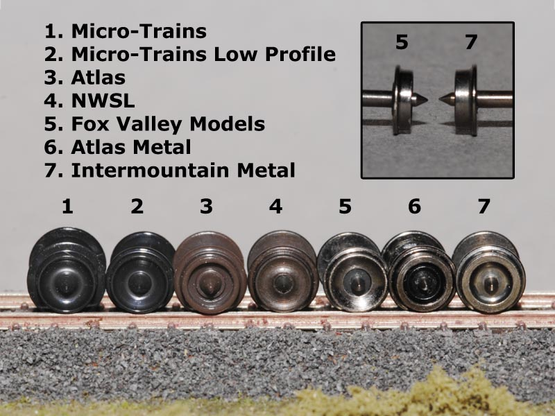 N Scale ATLAS CODE 55 And Different Wheels Which Allowed